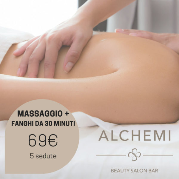 massaggi e fango 69 euro